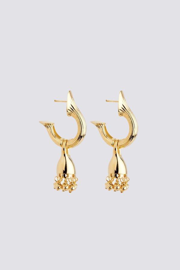 MM Druck Riya Earrings - Gold Vermeil