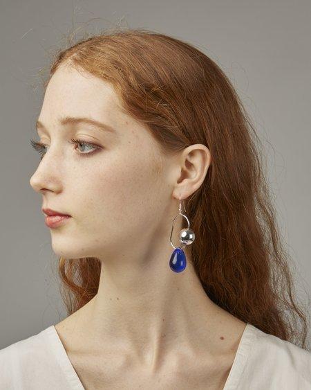 Faux/Real Bitter Sweet earrings - blue glass
