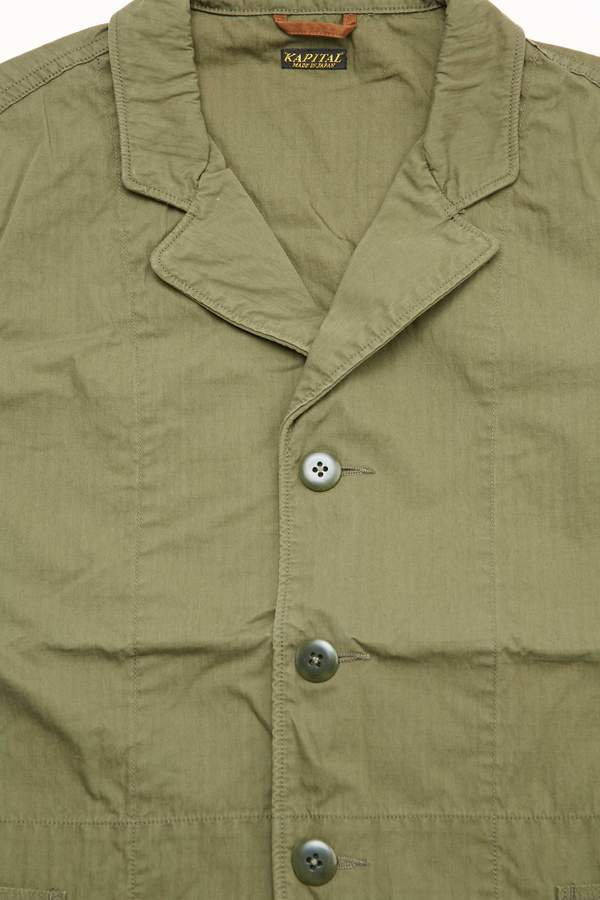 Kapital Rip-Stop Hospital Jacket - Khaki