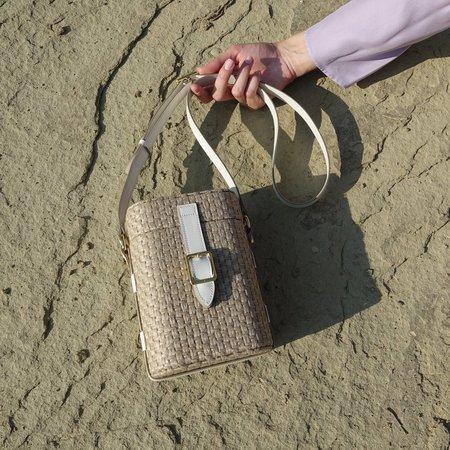 Officina del Poggio Mini Safari Bag - Juta/Latte