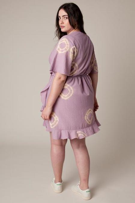Rachel Antonoff Amy Wrap Dress - Lavender/Pear Tie Dye