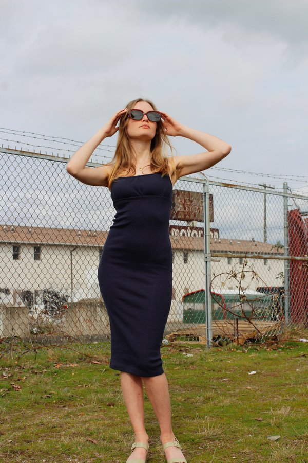Lisa Says Gah Cassi Dress - Navy