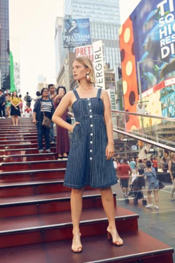 Rachel Antonoff Denim Stripe Alma Dress