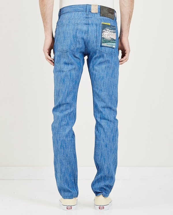 Naked & Famous Weird Guy Jeans - Blue Storm