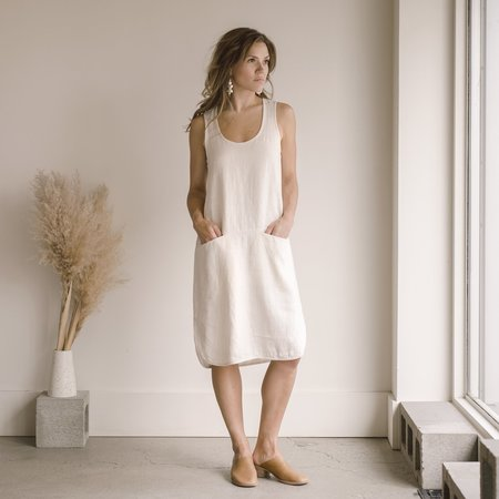 Beaton Linen Pocket Tunic - Alabaster