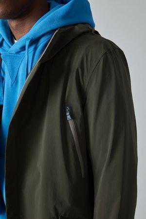 Herno Cotton Poly Fishtail Raincoat - Olive