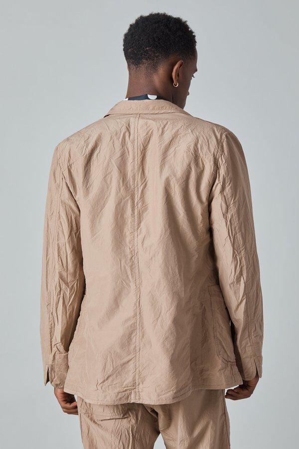 TSS Cotton Silk Micro Faille 3 Patch Pocket Jacket - Mocha