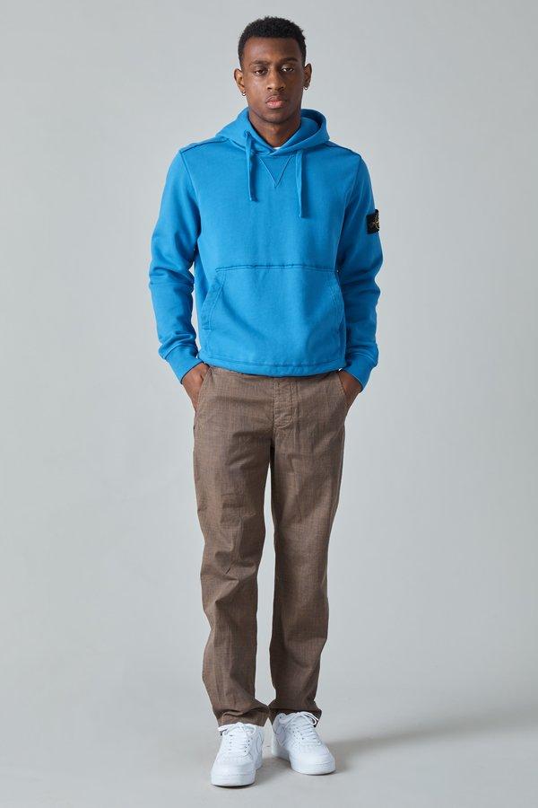 TSS Garment Dyed Textile Print Cotton Military Pants - Brown