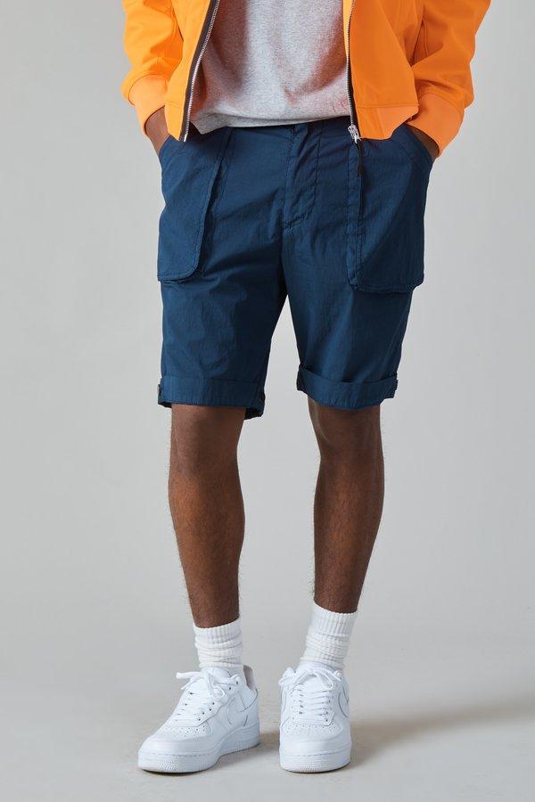 Presidents Poplin Cotton Nylon Wurkje Bermuda Shorts - Navy