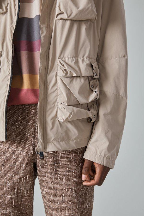 Paul & Shark Tech Nylon Taffeta Hooded Jacket - Khaki