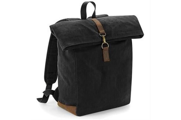 Milworks Waxed Canvas Backpack - Black