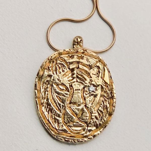 MELISSA DE LA FUENTE SWEET NECKLACE - Brass/Gold Fill