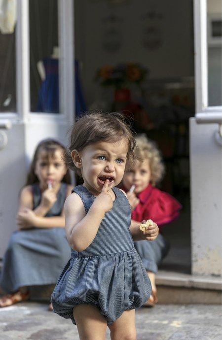 KIDS Ketiketa Zoé Baby Romper - Railroad Stripe