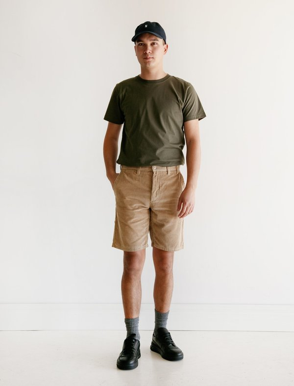 Norse Projects Aros Corduroy Shorts - Tan
