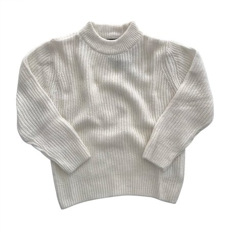 KIDS Feather Drum Riley Baby Sweater - Whisper