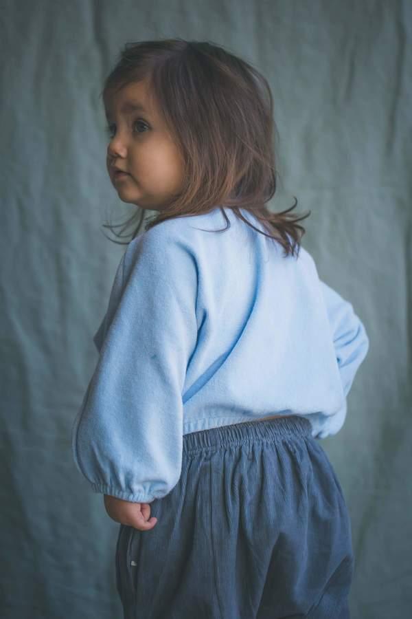 Kids Feather Drum Quinn Baby Sweater - Powder Blue