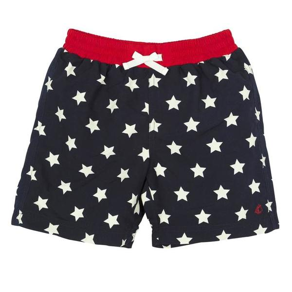 39a3123ee3 KIDS Petit Bateau Swim Shorts - Navy Blue/White Star Print | Garmentory