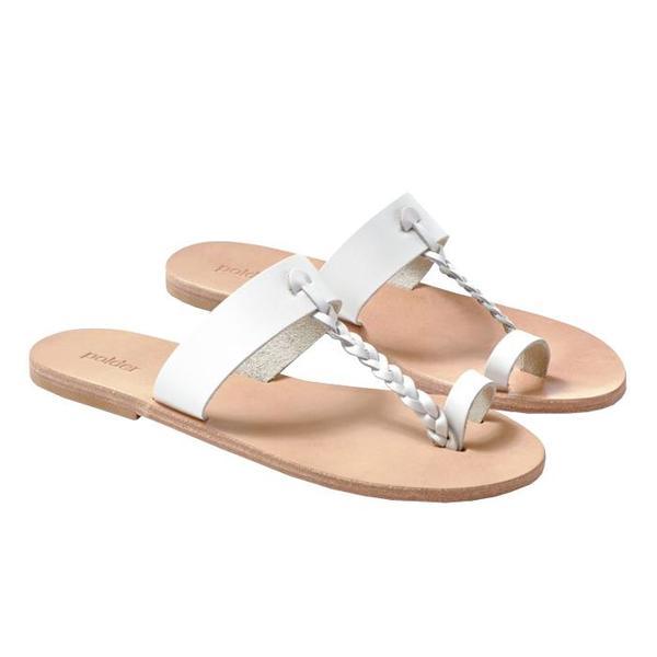 Polder Alfreda Leather Sandals - White