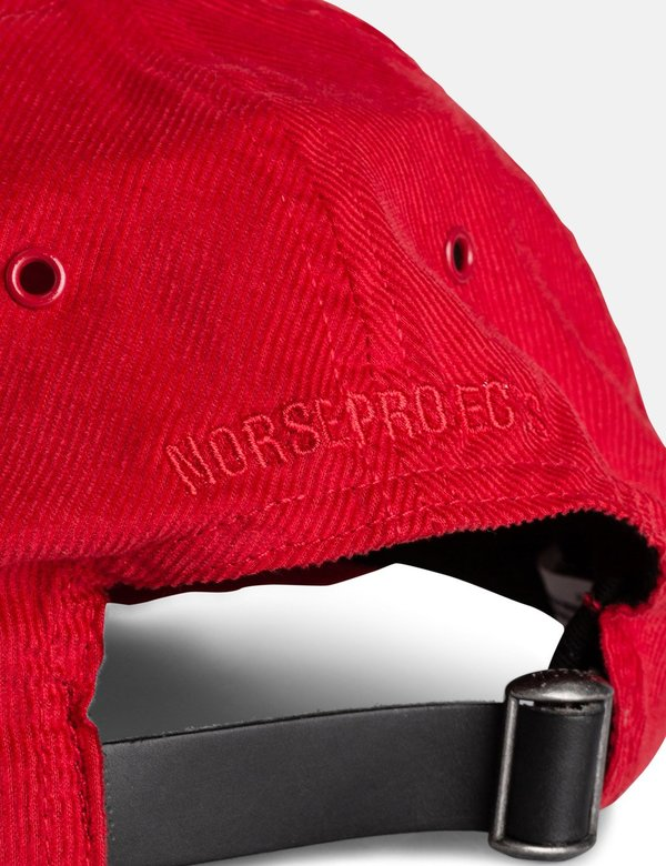 Norse Projects Baby Corduroy Sports Cap - Askja Red