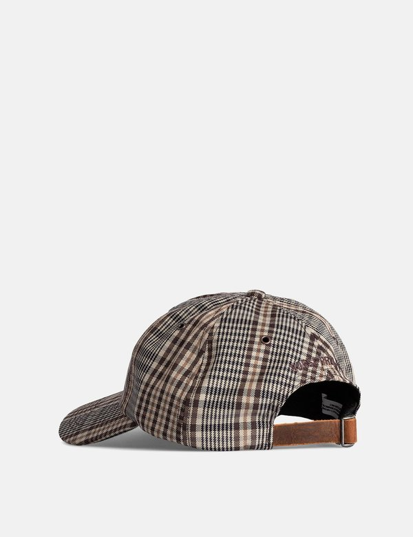 Norse Projects Compact Twill Sports Cap - Beige/Brown Check