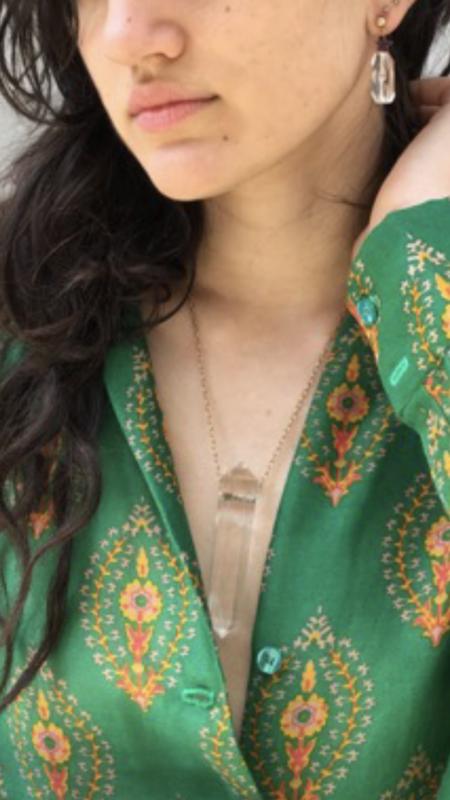 McKenzie Liautaud Rock Crystal Necklace - Clear Quartz