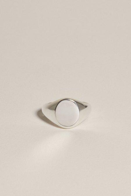 J. Hannah Oval Pinky Signet - Silver