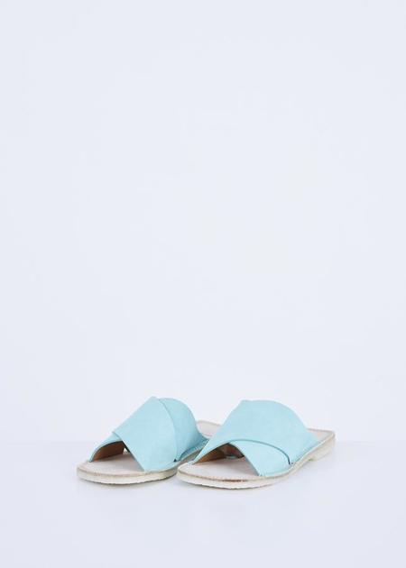 Flamingos Betty Slide Sandal - Aqua Suede
