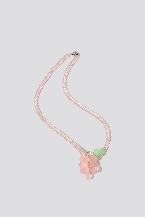 Faux / Real Ready to Pick Necklace - Light Pink