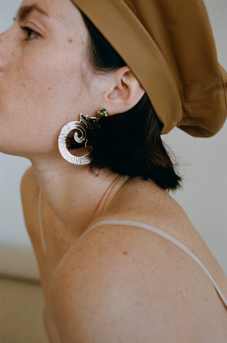 JUSTINE CLENQUET THE AOKI GOLD EARRING