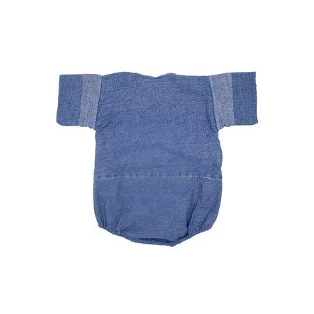 KIDS Kiboro La Bolsillo Baby Romper - Medium Wash