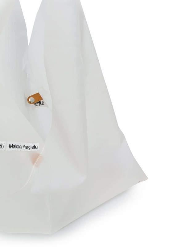 MM6 MAISON MARGIELA Large Japanese PVC Bag - white