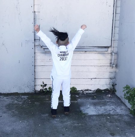 KIDS GARDNER AND THE GANG World Champion Track Suit - WHITE
