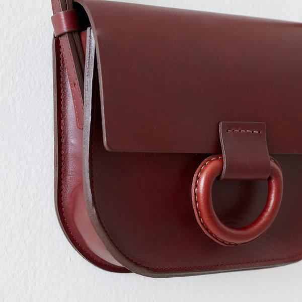 Crescioni mini logan bag - burgundy