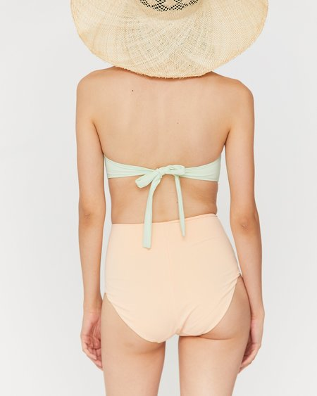 Esby Linda High Waist Bottom - Pearl