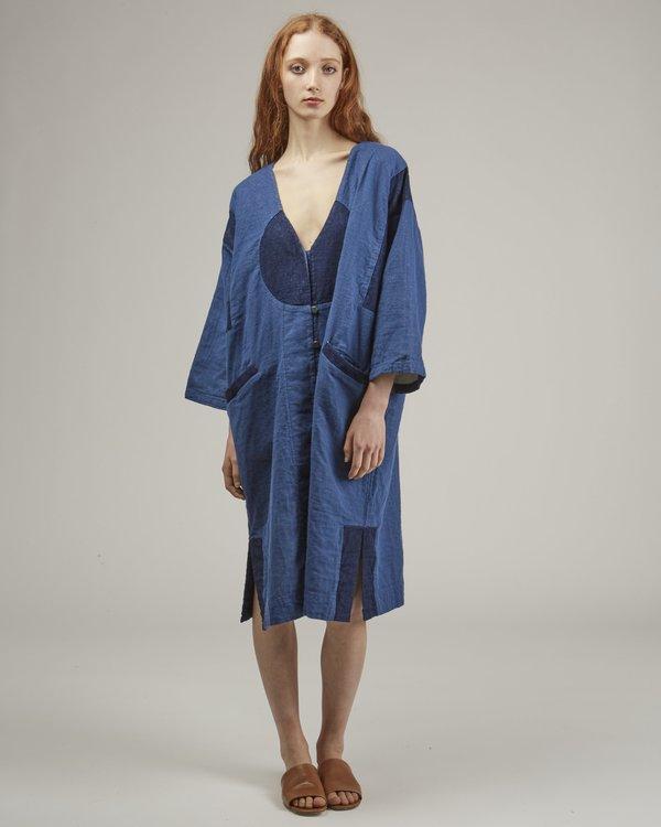 Atelier Delphine Gillian Coat - Patchwork Denim