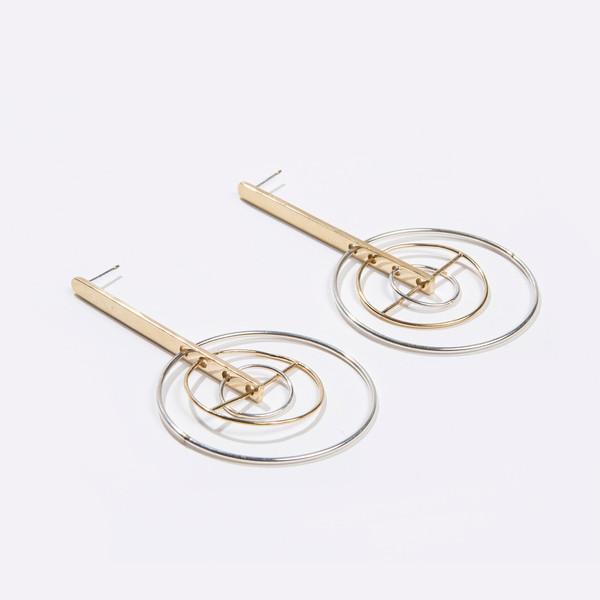 Metalepsis Projects Kinetic Earrings - Brass