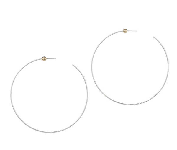 Jenny Bird Icon Hoops Large - Silver