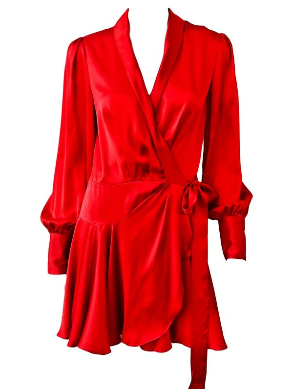 a62181780575 Zimmermann Wrap Short Dress - Scarlet | Garmentory