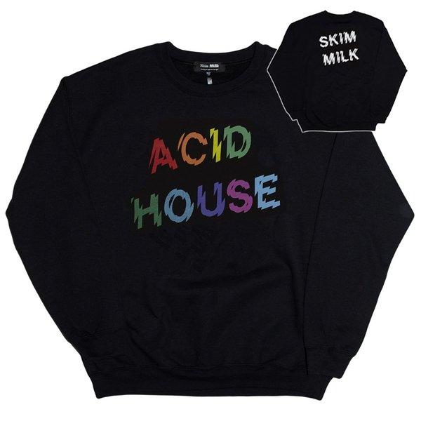Unisex Skim Milk Acid House Sweatshirt - Black