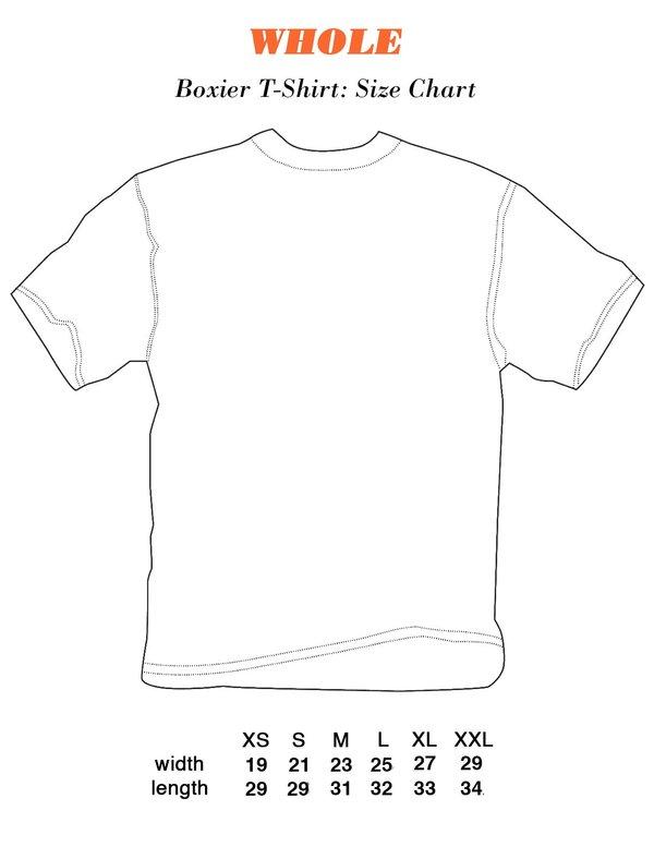 Unisex WHOLE Single Piercing T-Shirt - Black