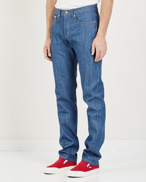 Naked & Famous Weird Guy Selvedge Jean - Clear Blue