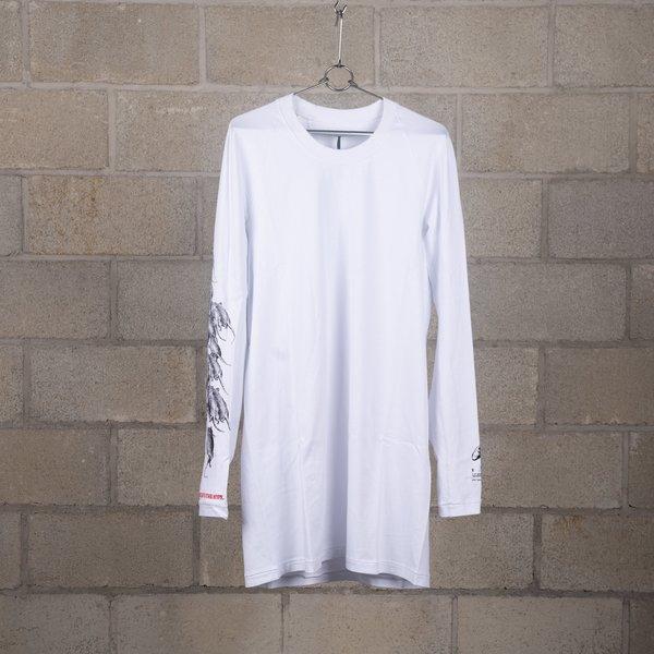 11 by Boris Bidjan Saberi LS3 Washed Long Sleeve T-Shirt - White