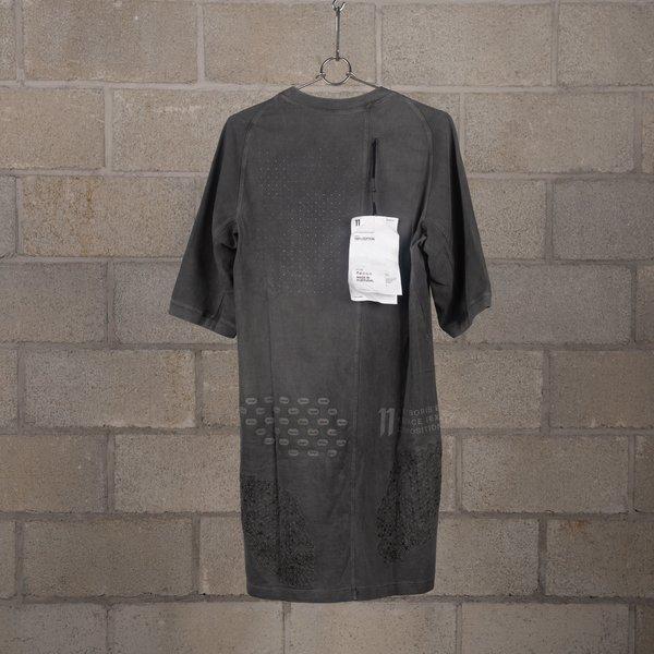 11 by Boris Bidjan Saberi TS4B Bamba Cold Dye Short Sleeve T-Shirt - Black