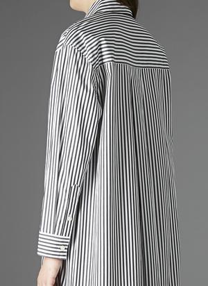 GREI TWO POCKET SHIRT DRESS - BLACK/WHITE STRIPE