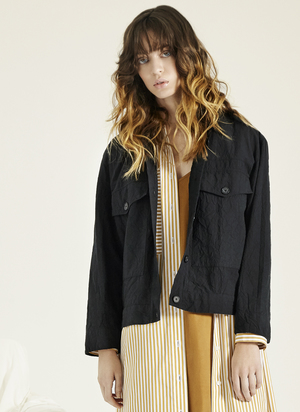 GREI TWO POCKET CROPPED JACKET - INK
