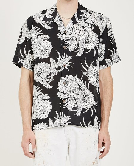 AVANTI X AMRAG NIGHT BLOOMING ALOHA SHIRT - Black