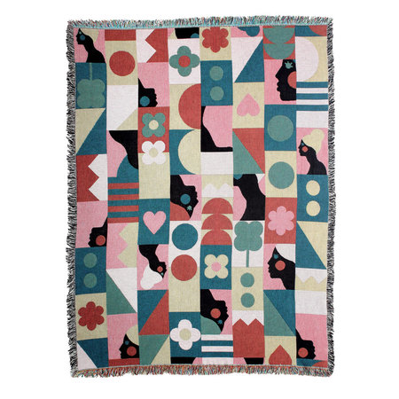 DITTOHOUSE Brave and Lovely Woven Throw