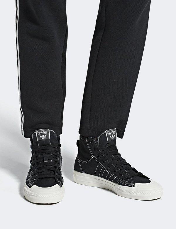 info for 83867 46707 Adidas Nizza RF HI Canvas Trainers (F34057) - Black