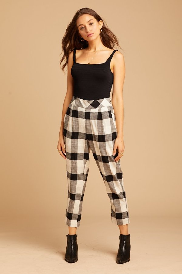Free People Clear Skies Pant Checkered Garmentory