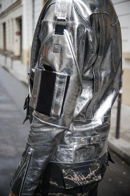 Nomenklatura Cowhide Leather Perfecto - Silver Foil